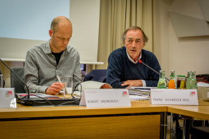 v.l.n.r. Robert Andreasch, Franz Schindler