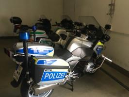 Motorräder der Polizei
