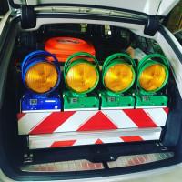 Ausstattung Polizeifahrzeug