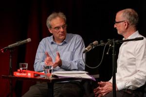 Landtagsabgeordneter Florian Ritter in der Diskussion mit Axel Markwardt